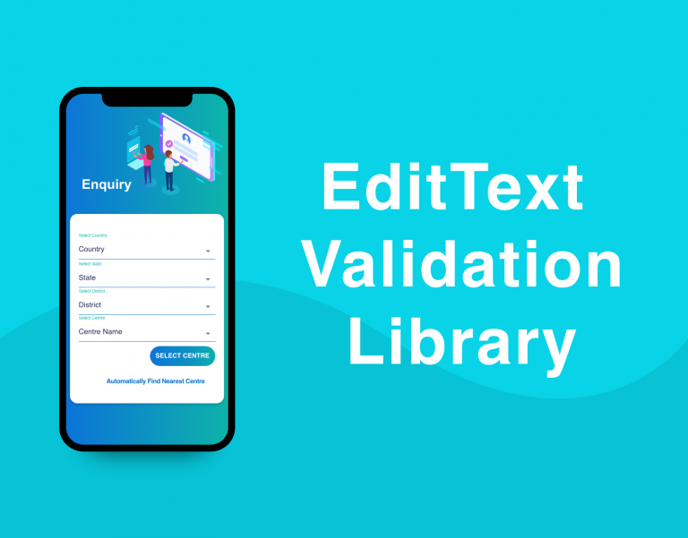 android edittext validation library image