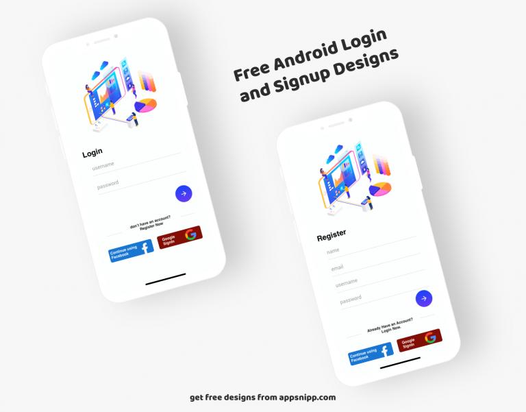 free minimal login xml design