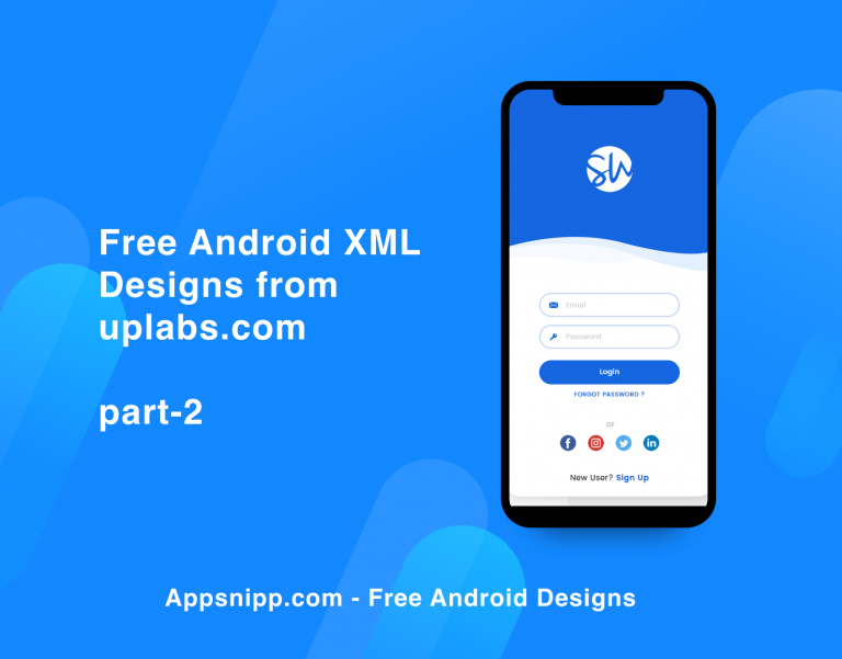 Free android designs with xml from uplabs