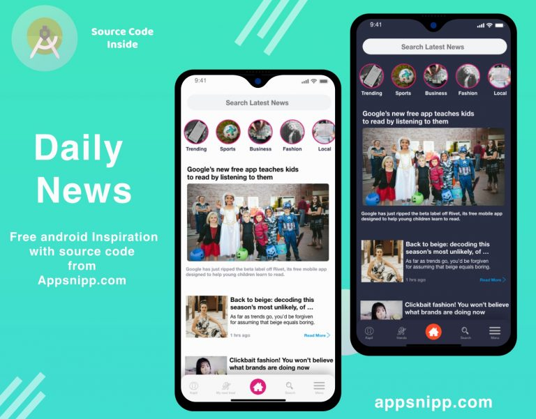 appsnipp news app ui kit thumbnail