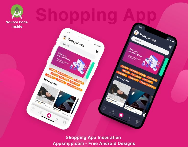 android shopping app ui deisgn