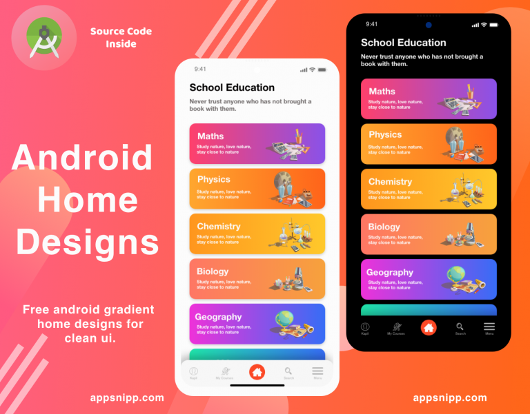 App Snipp - Free designs, Ui Kits, themes and Libraries for Android